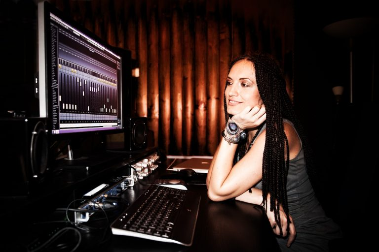 Anita Andreis in her recording studio